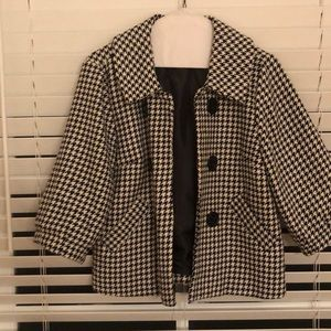 EEUC Black and White Houndstooth Short Jacket